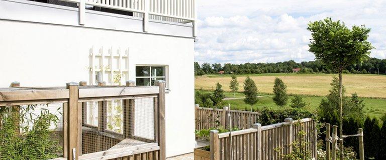 Nybyggt hus med utsikt