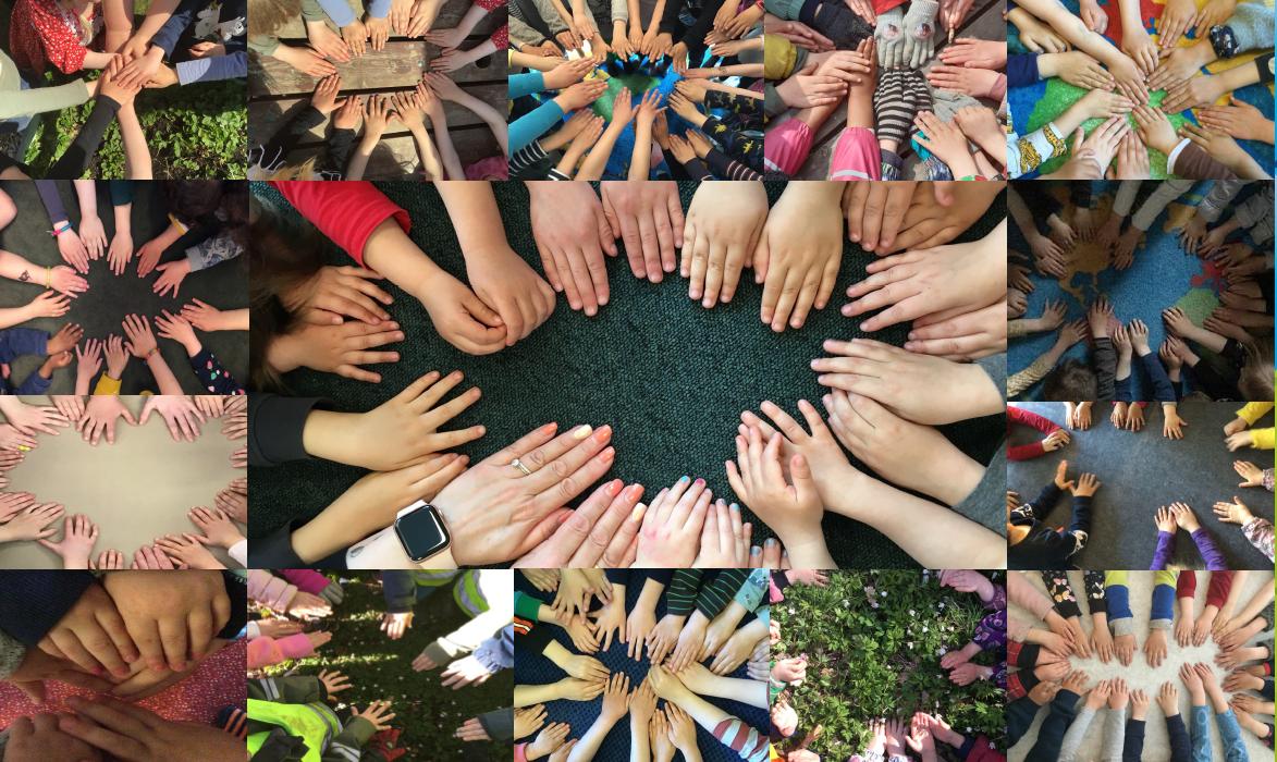 collage med barnens händer