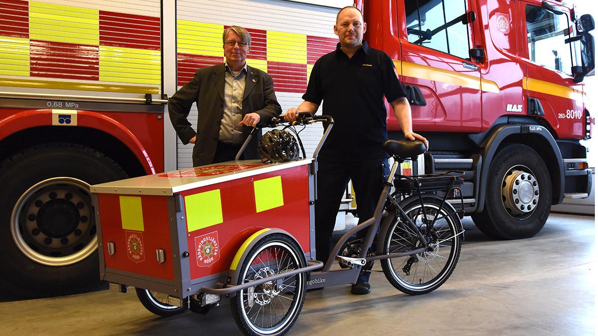 Räddningstjänstens nya elcykel.