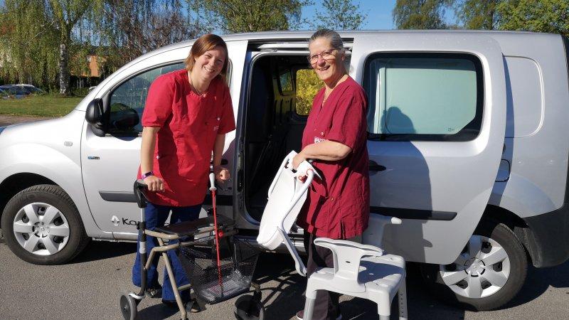 Sjukgymnast Maria och Arbetsterapeut Ellika