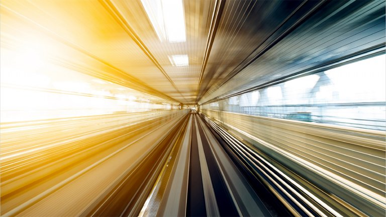 Illustration höghastighetsjärnväg