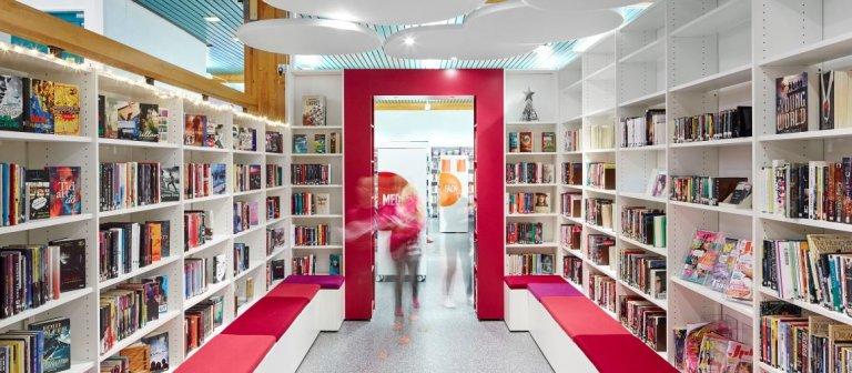 Bibliotekets tonårsavdelning