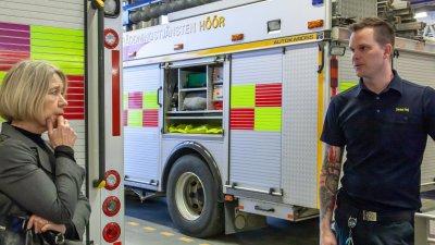 Positivt landshövdingsbesök hos räddningstjänsten