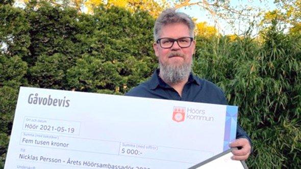 Nicklas Person - vinnare av utmärkelsen Årets Höösambassadör 2020