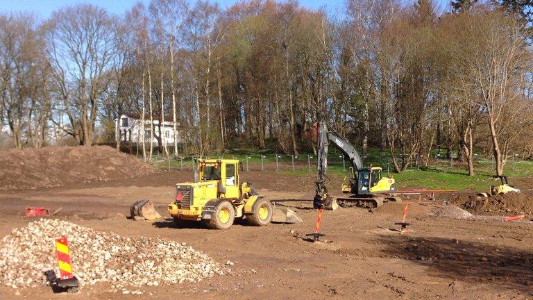 Byggarbetsplatsen, ny förskola