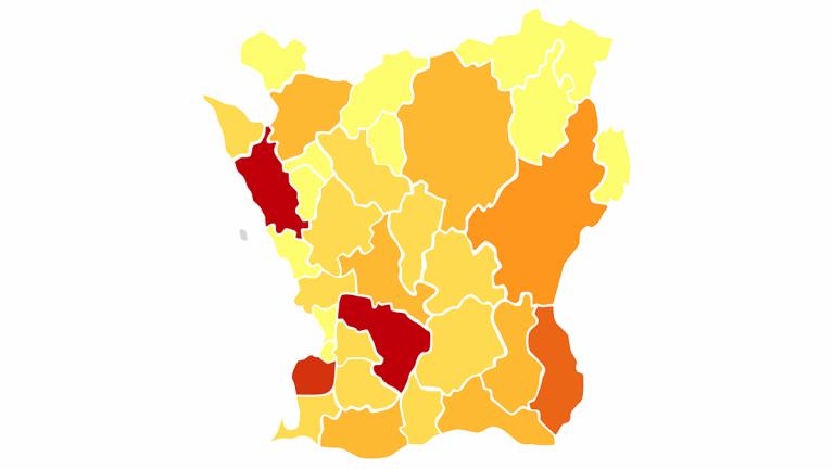 Karta: solcellskapacitet i Skånska kommuner.