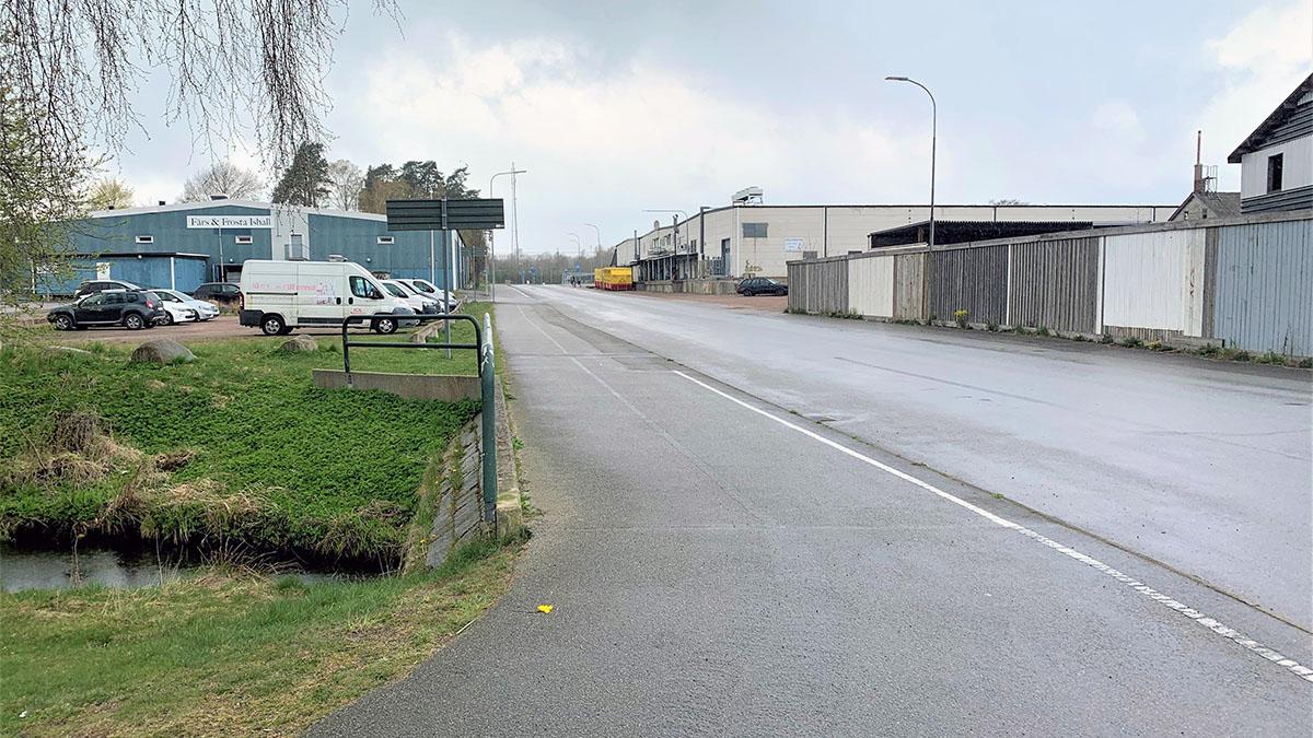 En del av Friluftsvägen, sett från Höörs Bad och Sportcentrums parkering.